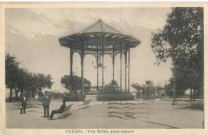 Il palco della musica alla Villa Bellini di Catania