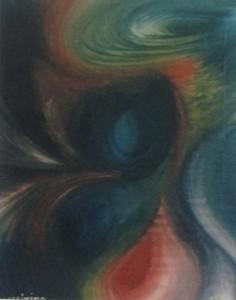"""""""Trombe d'aria"""" 1978 Olio su tela, 40x50"""