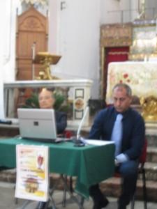 Da sinistra: il Prof. Alfonso Sciacca e il giornalista Antonio Trovato