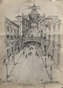 Quattro Canti a Catania progetto ing. A.Vucetich.