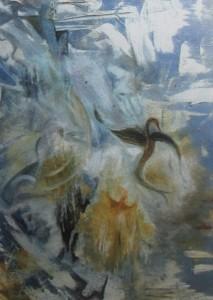 """Lo scoppio dei ghiacciai"" 2005 Olio su tela, 50x60"