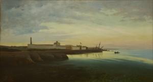 Antonino Leto_Lo stabilimento enologico Florio a Marsala (o Fortezza sul mare o Baglio trapanese)_1865-1870, LGT
