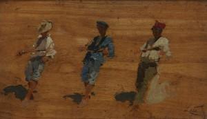 Antonino Leto_Studio per La sciabica_1887 c.a., LGT