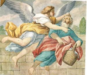 """Pietro Paolo Vasta """"Daniele nella fossa dei leoni""""  (Particolare con Abacuc Chiesa S. Maria del Suffragio Acireale)"""