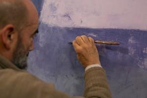 Franco Fasulo nel suo studio, 2