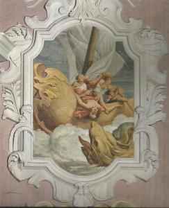 Pietro Paolo Vasta: Giona inghiottito dal cetaceo (Chiesa S, Maria del Suffragio Acireale)