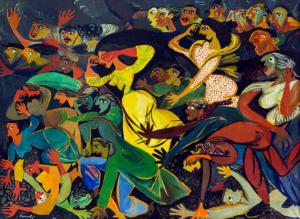 GIUSEPPE CONSOLI, Lacrimogeni a Mussomeli, 1954