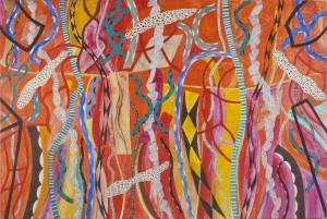 IGNAZIO MONCADA, Il giardino di Galatea, acrilico su tela, 2004, LGT