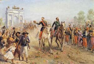 Napoleone III con Vittorio Emanuele II