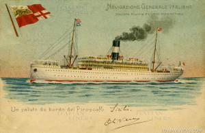 Una nave della società di navigazione di Genova
