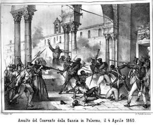 Il convento della Gangia, dove avvenne l'attacco all'eroe Pietro Riso e ai suoi compagni rivoltosi.