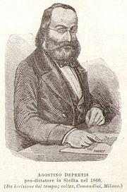 Agostino Depretis Prodittatore di Sicilia, durante l'invasione dei Savoia