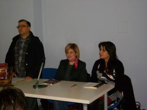 A sinistra Giacomo Trovato, al centro Maria Cristina Torrisi, a destra Anna Rosaria Gioeni