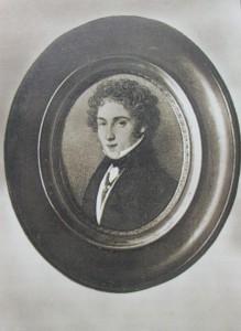 Miniatura di Vincenzo Bellini eseguita da M. Malibran a Londra nel 1832, lo stesso anno in cui il musicista catanese scrisse la lettera qui riportata.