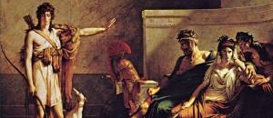 Ippolito di Euripide scena