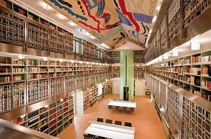 Palazzo Branciforte, Biblioteca e soffitto decorato da Moncada