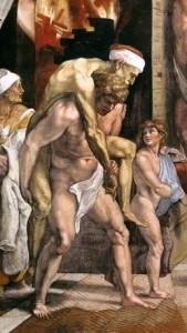 Raffaello, Enea trasporta il padre Anchise, musei vaticani