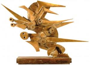 UMBERTO MASTROIANNI, Volo pace, scultura in bronzo, 1992