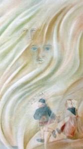 """""""Tra le pieghe dell'anima"""" 2005 - Olio su tela 50x60"""