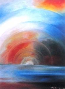 """""""Mistero dell'infinito"""" 2003Olio su tela 50x60"""