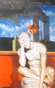 """Luciano Gasbarri: """"Il dolore"""" - olio su tela cm 100x70"""