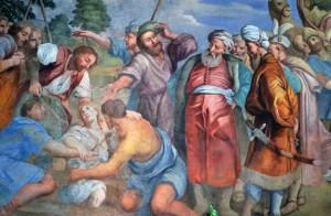 Pietro Paolo Vasta: Giuseppe venduto dai fratelli (Chiesa S,Maria del Suffragio Acireale)